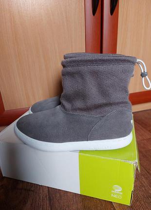 Замшевые сапоги/ ботинки adidas 23,5- 24 см
