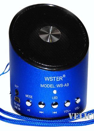 Портативная колонка WS-A9 FM MP3