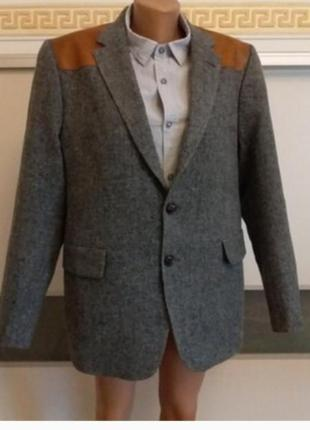 Мужской пиджак с латками 2 размера