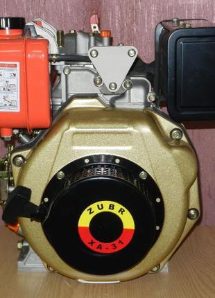 Двигатель Дизельный на Мотоблок Зубр (ZUBR) 178F на Шлицах Руч...