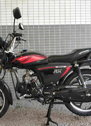 Мопед Мотоцикл Viper V125R ALPHA-RX Чёрный с Багажником Наложк...
