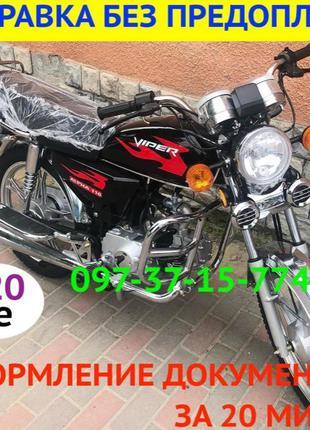 Мотоцикл Viper, Вайпер, Альфа, Alpha 110см3 Черный Новый без п...