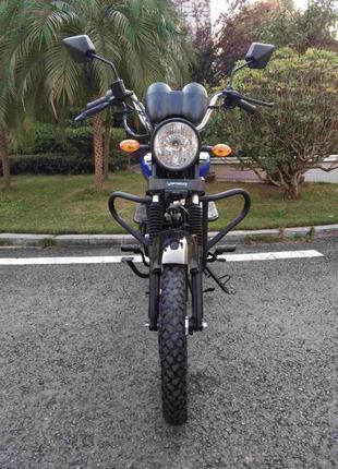 Мотоцикл Мопед Альфа ALPHA RX 125R Синий с Багажником Наложка ...