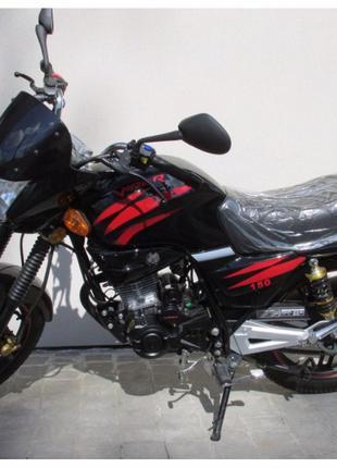 Мотоцикл Вайпер Скутер Мопед VIPER V150А Баланс Чёрный Наложка...