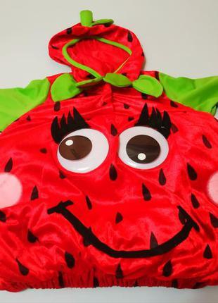Новогодний карнавальный костюм клубнички на 2-3 года