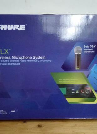 Новая радиосистема Shure Beta 58A/SLX4 радиомикрофон беспроводной