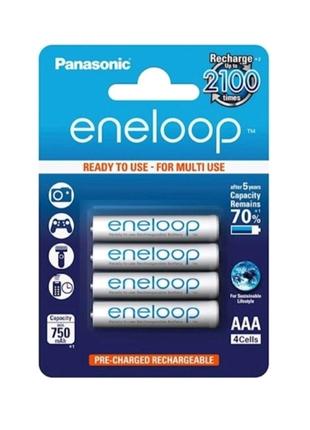 Аккумуляторы Panasonic eneloop AAA 750 мАч Ni-MH 4 шт (BK-4MCCE/4