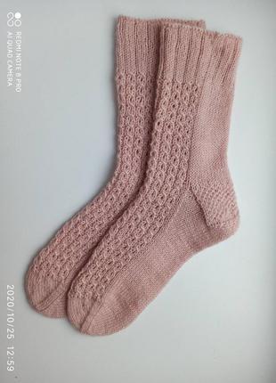 Носки женские вязаные шерстяные ручная работа