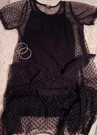 Женское платье 2 в 1 сетка