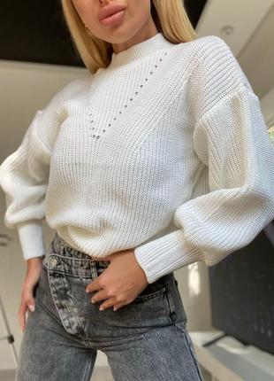 В'язаний теплий светр свитер джемпер кофта шерсть