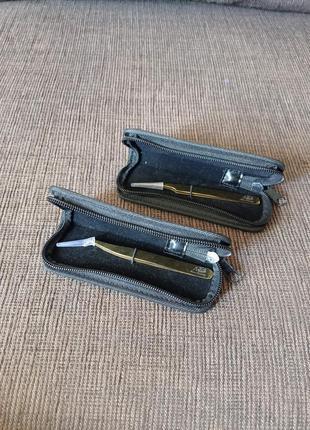 Пинцеты max-beauty для наращивания ресниц в чехлах прямой, изо...