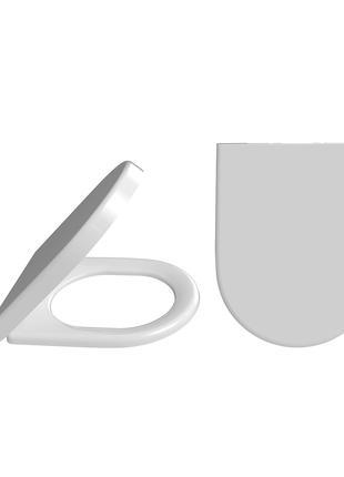 Универсальное сиденье для унитаза с микролифтом и дюропластом