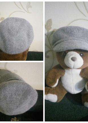H&m . 50% шерсть 20% ангора . тепленькая кепка шапка берет фур...