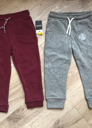 Новые тёплые спортивные штаны 2-3 года Next George оригинал