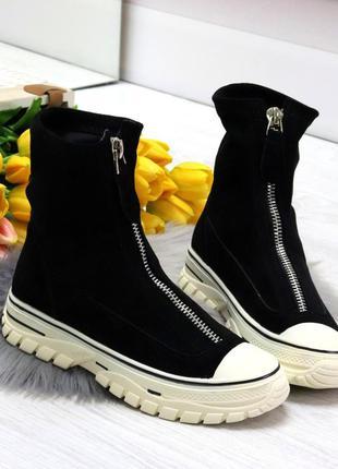 Демисезонные ботинки спортивный стиль /высокие кеды. ботинки...