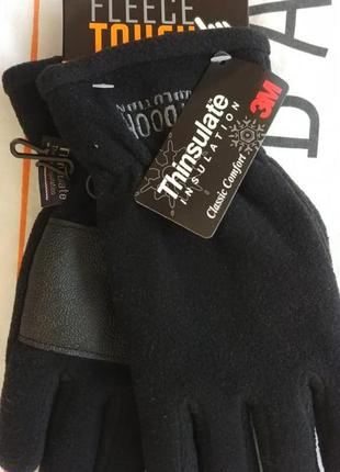 Флисовые мужские перчатки c touch для двух пальцев р. м thinsu...