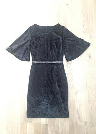 Короткое велюровое платье van gils