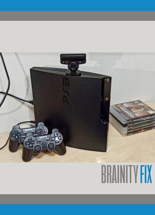 ГАРАНТИЯ - 1 Год! PlayStation 3 Slim 500 GB PS3 ПРОШИТА + Игры PS