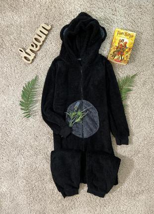 Флисовая пижама кигуруми с ушами №30