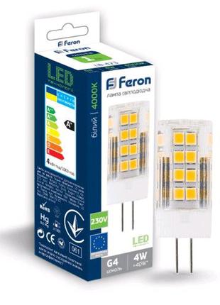Светодиодная лампа Feron LB-423 4W 230V G4 4000K