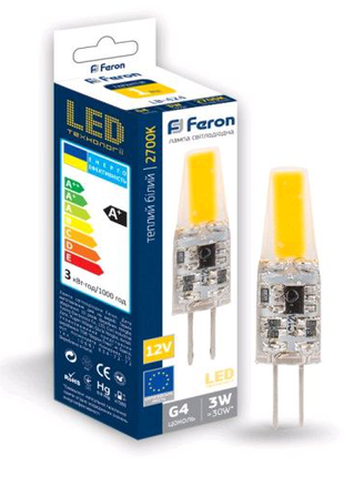 Светодиодная лампа Feron LB-424 3W COB 12V G4 2700K