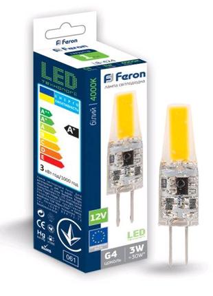 Светодиодная лампа Feron LB-424 3W COB 12V G4 4000K