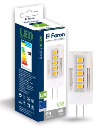 Светодиодная лампа Feron LB-423 4W 12V G4 4000K
