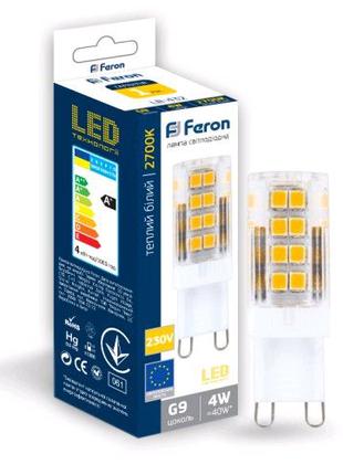 Светодиодная лампа Feron LB-432 4W G9 2700K