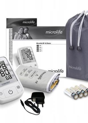 Автоматический тонометр Microlife BP A2 Basic +адаптер, 4 батареи