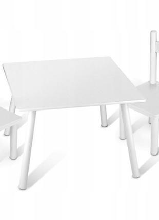 Детский стол с 2 стульями для творчества (белые), Новый