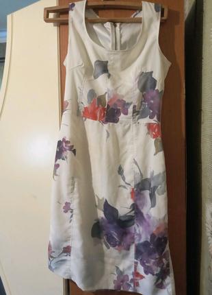 Сукня біла з візерунком
