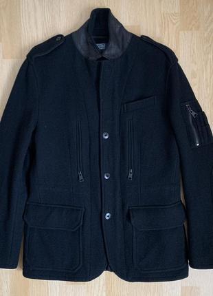 Polo ralph lauren wool blazer jacket шерстяное полупальто пиджак