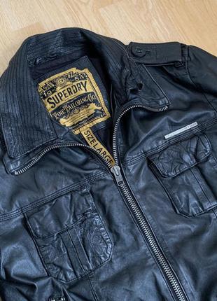 Superdy leather jacket кожаная куртка