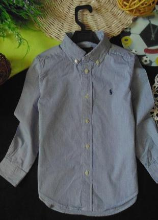 6лет.оксфордская рубашка ralph lauren