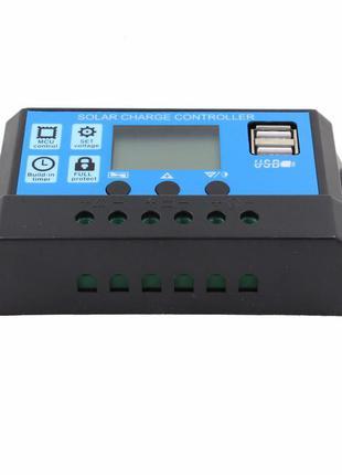 ШИМ-контроллер заряда солнечной батарей (панелей), с ЖК-дисплеем.