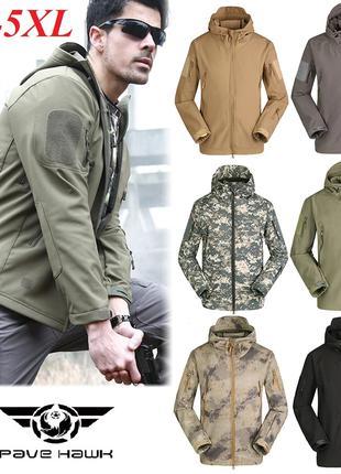Тактическая куртка штурмовка ветровка Pave Hawk ESDY Softshell