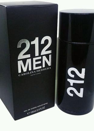 Мужская туалетная вода Carolina Herrera 212 Men Black 100 мл