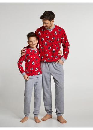 Мужская пижама  ellen с новогодним принтом family look (039/001)