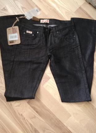 Джинсы женские, джинсы черные с блеском новые