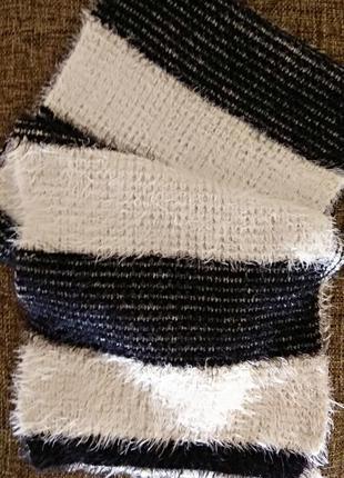 Шарф травка, шарф мягкий и пушистый