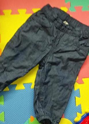 Джинсы для новорожденного, штаны синие