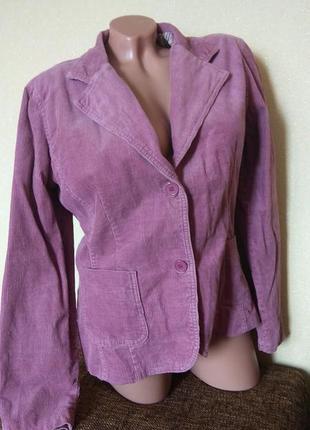 Пиджак flare вельветовый лиловый, жакет женский violet