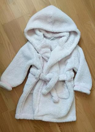 Халат махровый на девочку, банный халат на меху