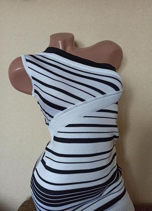Платье primart белое в полоску, платье на одно плечо, стильное...