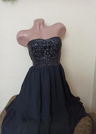 Платье шифоновое с пайетками, платье на выпускной, вечернее пл...