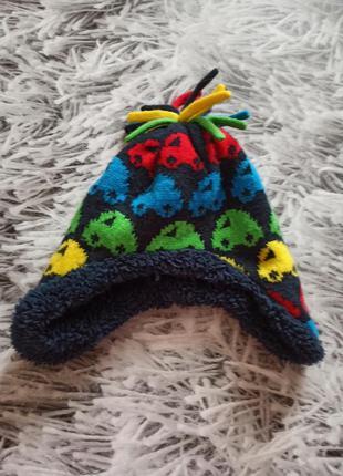 Шапка меховушка, шапка с бубоном, шапка зимняя на мальчика