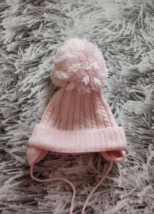 Шапка с большим бубоном, шапка зимняя