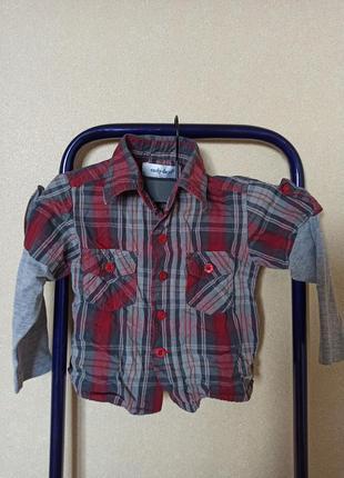 Рубашка на мальчика, рубашка в клетку