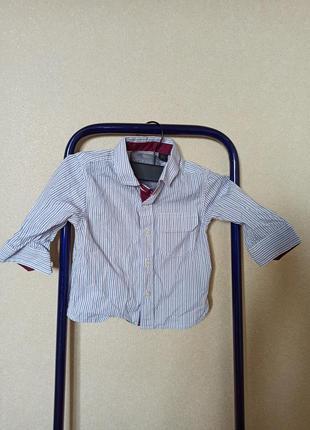 Рубашка next на мальчика, рубашка белая в полоску