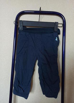 Штаны темно-синие на подкладке